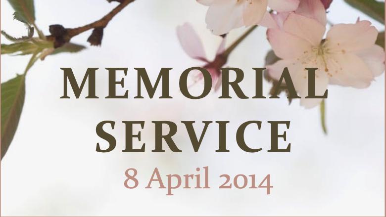 Service commémoratif de 2014