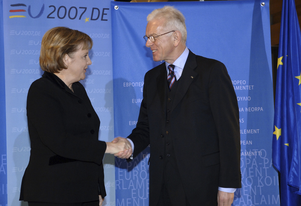 Plenary session in Strasbourg - Presentation of the priorities of the German Presidency of the Council by German Chancellor