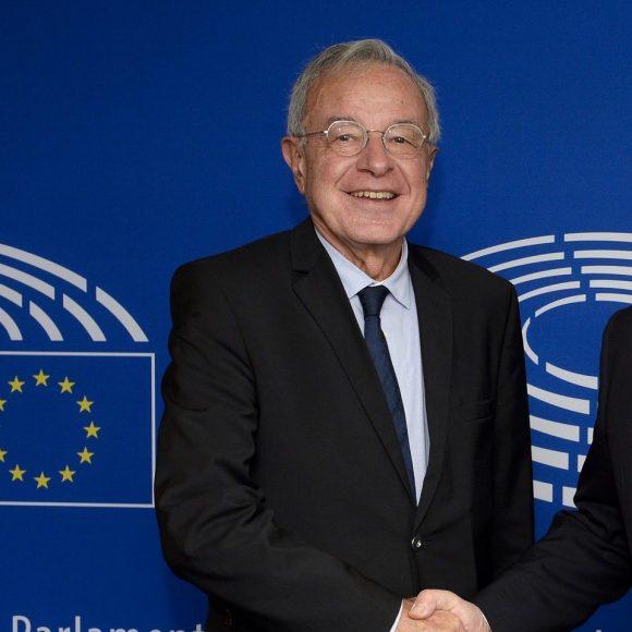 Antonio TAJANI - EP President meets with MEP Alain LAMASSOURE